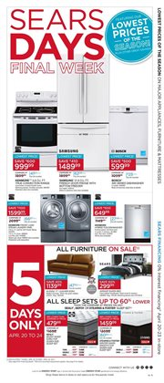 Sears deals in the Montreal flyer