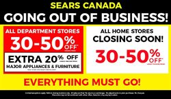 Sears deals in the Victoria BC flyer