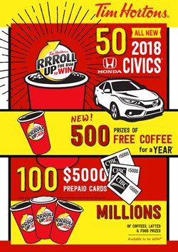 Restaurants offers in the Tim Hortons catalogue in Toronto