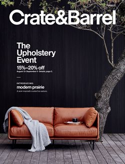 Sales deals in the Crate & Barrel catalogue ( 9 days left)