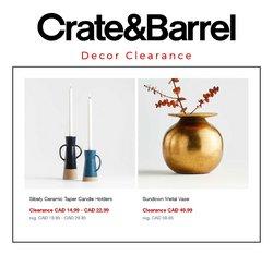 Crate & Barrel deals in the Crate & Barrel catalogue ( Expires tomorrow)