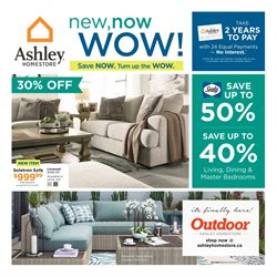 Ashley Furniture deals in the Calgary flyer