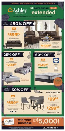 Home & Furniture deals in the Ashley Furniture catalogue ( Published today)