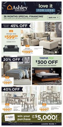 Home & Furniture deals in the Ashley Furniture catalogue ( Expires tomorrow)