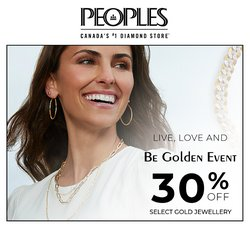 Peoples Jewellers deals in the Peoples Jewellers catalogue ( More than a month)