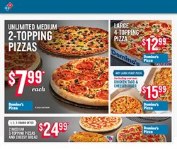 Restaurants offers in the Domino's Pizza catalogue in Toronto ( 26 days left )