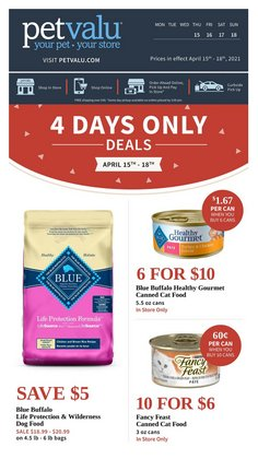 Grocery offers in the Petvalu catalogue ( 2 days left )