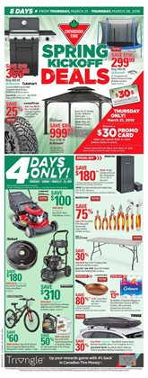 Canadian Tire deals in the Parksville flyer
