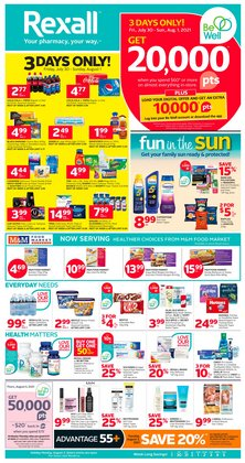 Pharmacy & Beauty deals in the Rexall catalogue ( Expires today)