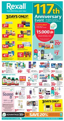 Pharmacy & Beauty deals in the Rexall catalogue ( 4 days left)