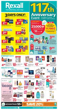 Pharmacy & Beauty deals in the Rexall catalogue ( Published today)