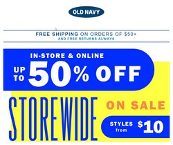 Clothing, Shoes & Accessories deals in the Old Navy catalogue ( Published today)