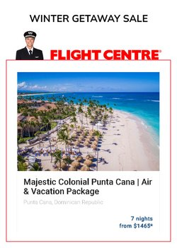 Travel deals in the Flight Centre catalogue ( More than a month)