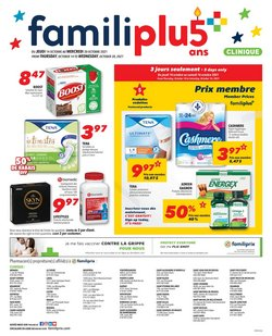 Pharmacy & Beauty deals in the Familiprix catalogue ( 2 days left)