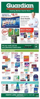 Pharmacy & Beauty deals in the Guardian Pharmacy catalogue ( 10 days left)