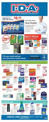 Pharmacy & Beauty deals in the IDA Pharmacy catalogue ( 10 days left)