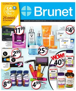 Pharmacy & Beauty offers in the Brunet catalogue in Salaberry-de-Valleyfield