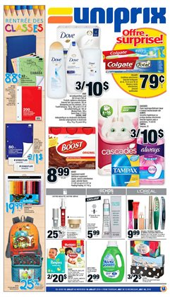 Uniprix deals in the Montreal flyer