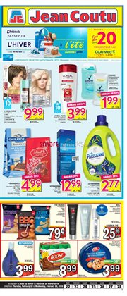 Jean Coutu deals in the Quebec flyer