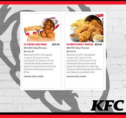 Restaurants offers in the KFC catalogue ( 14 days left )