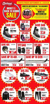 Back to school offers in the National Sports catalogue in Toronto