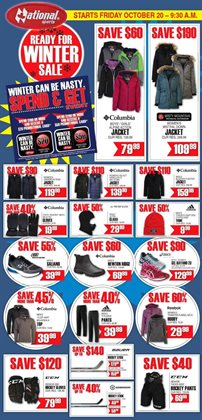 Sport offers in the National Sports catalogue in Toronto