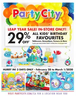 Kids, Toys & Babies offers in the Party City catalogue in Calgary ( Expires tomorrow )