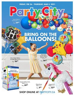 Party City catalogue in Vancouver ( Expired )