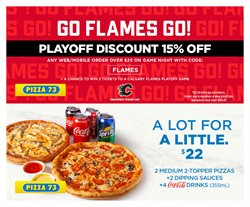 Restaurants offers in the Pizza 73 catalogue in Prince George