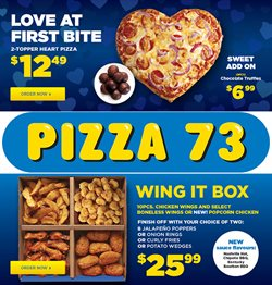 Pizza 73 catalogue ( Expires today )