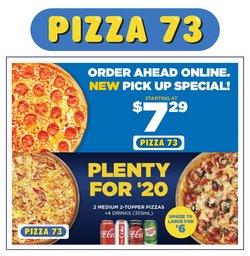 Restaurants deals in the Pizza 73 catalogue ( 12 days left)
