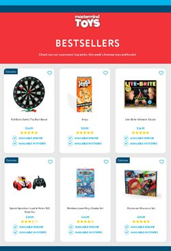Kids, Toys & Babies offers in the Mastermind Toys catalogue ( 28 days left )