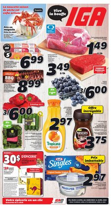 IGA catalogue in Sherbrooke QC ( 2 days left )