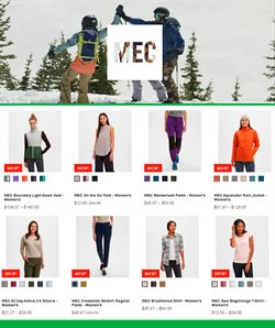 Sport offers in the MEC catalogue in Vancouver