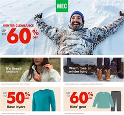 Sport offers in the MEC catalogue ( 5 days left )