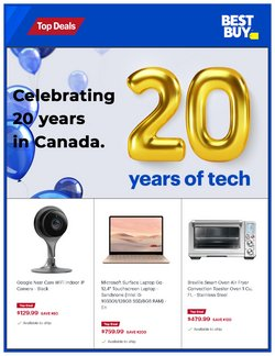 Electronics deals in the Best Buy catalogue ( 2 days left)