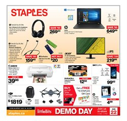 Staples deals in the Winnipeg flyer