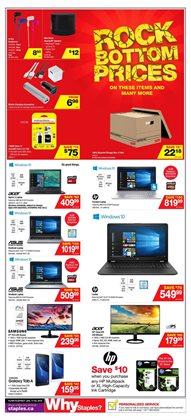 Staples deals in the London flyer