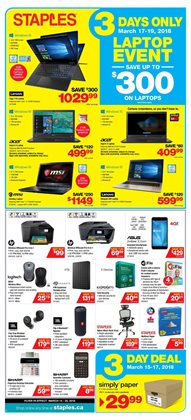 Electronics & Appliances offers in the Staples catalogue in Sudbury