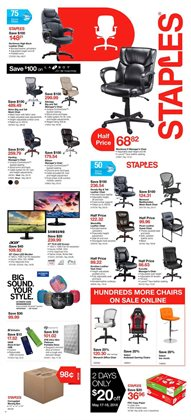 Staples deals in the Sarnia flyer