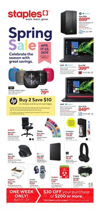 Electronics & Appliances offers in the Staples catalogue in Victoriaville