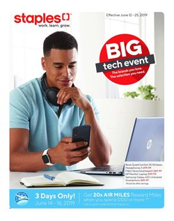 Electronics offers in the Staples catalogue in Rouyn-Noranda