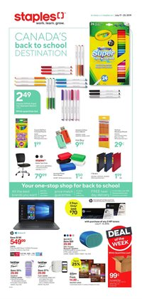 Staples deals in the Toronto flyer