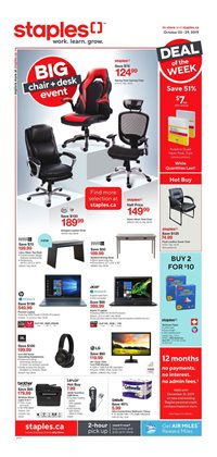 Staples deals in the Chilliwack flyer
