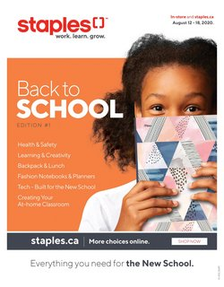 Staples catalogue in Calgary ( 2 days ago )