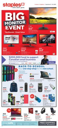 Electronics offers in the Staples catalogue in Toronto ( Expires tomorrow )
