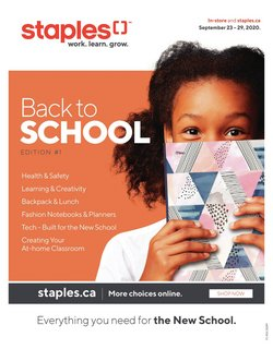 tablet deals in the Staples catalogue ( 4 days left)