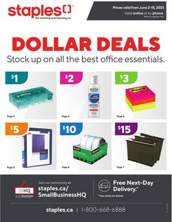 Staples deals in the Staples catalogue ( Expires today)