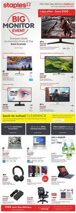 Electronics deals in the Staples catalogue ( 2 days left)