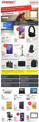 Electronics deals in the Staples catalogue ( 4 days left)